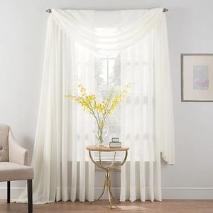 Smart sheer ivory 95-in length panel